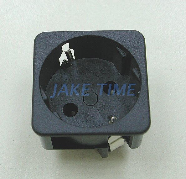 1U size 45mm*45mm SCHUKO German Outlet Socket